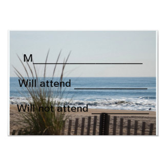 """Ocean View RSVP Card 3.5"""" X 5"""" Invitation Card"""