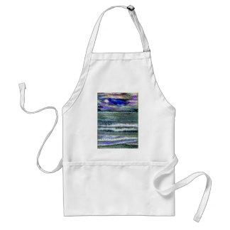 Ocean View Sea Waves Seashore Art Adult Apron