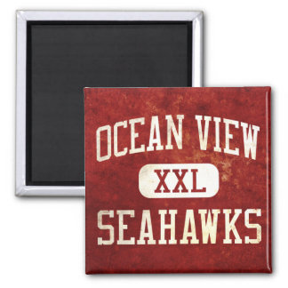 Ocean View Seahawks Athletics 2 Inch Square Magnet