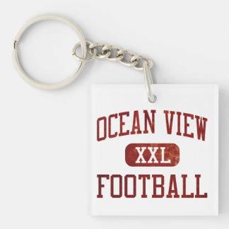Ocean View Seahawks Football Keychain