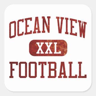 Ocean View Seahawks Football Square Sticker