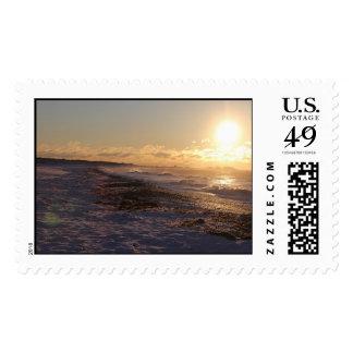 Ocean View Sunrise Postage Stamp