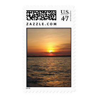 Ocean view Sunset Postage