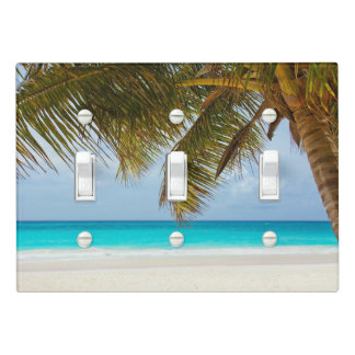 Ocean View Through the Palm Tree Light Switch Cover