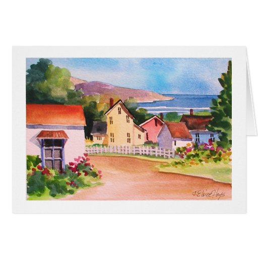 Ocean View Village Houses Card