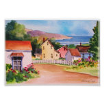 Ocean View Village Houses Print
