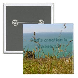 Ocean Vista 2 Inch Square Button