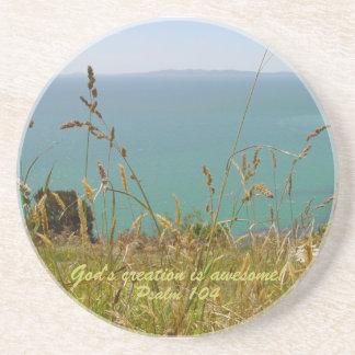 Ocean Vista - Psalm 104 Drink Coaster