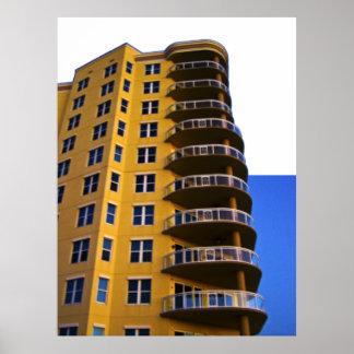 Ocean Vistas Corner Units Architecture Photo Art 4 Poster