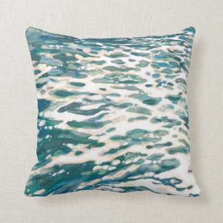 Ocean Wake Beach Coastal Decor Pillow by Juul