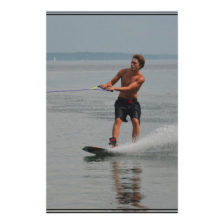 Ocean Wakeboarder Personalized Stationery