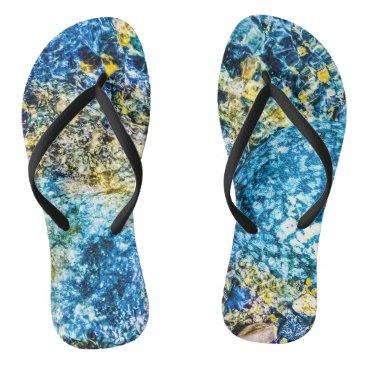 """Beach Themed """"Ocean Walker """" Flip Flops"""