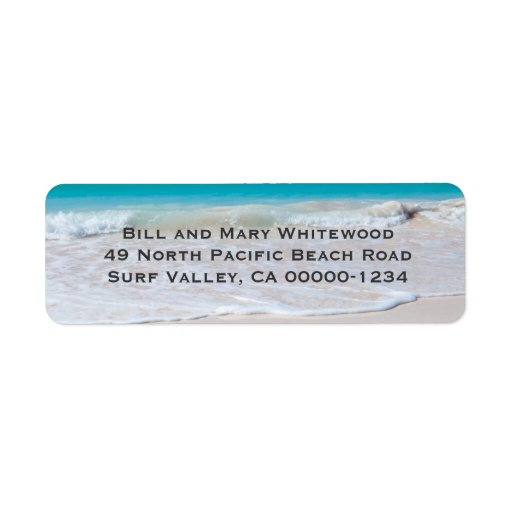 Ocean Water and Beach Sand Return Address Labels
