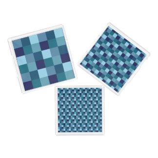 Ocean Water Blue Squares Tray Set