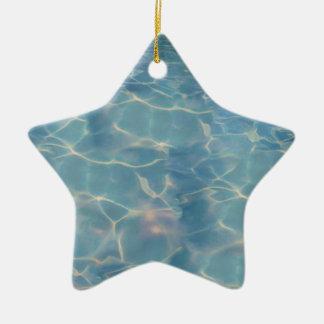Ocean water ceramic ornament