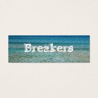 Ocean Water Custom Skinny Business Card Template