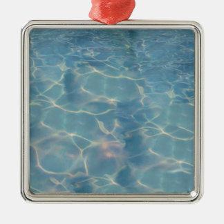 Ocean water metal ornament
