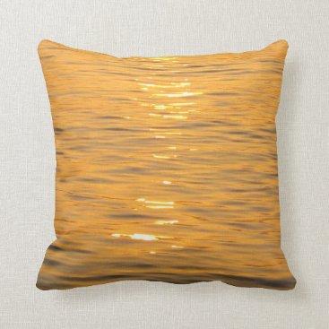 Beach Themed Ocean Water Orange Pillow