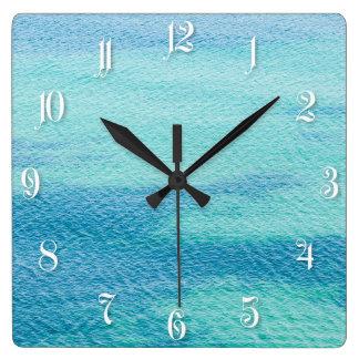 Ocean water pattern square wall clock