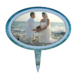 Ocean Water Photo Frame Decorative Oval Cake Pick