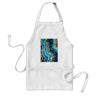 Ocean Water Reflection Lines Tie Dyes Aprons