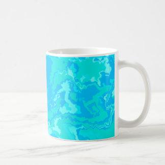 Ocean Water Squiggles Design Coffee Mug