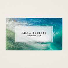 Ocean Water Surf Instructor Professional Business Card at Zazzle