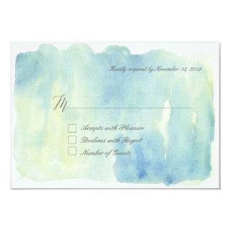 Ocean watercolor RSVP Cards