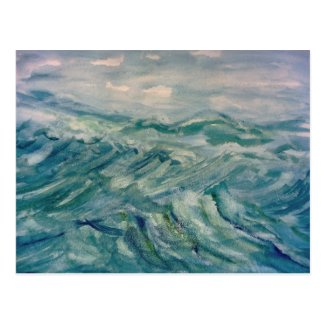 Ocean Waters Postcard
