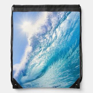 OCEAN WAVE 1 DRAWSTRING BACKPACK