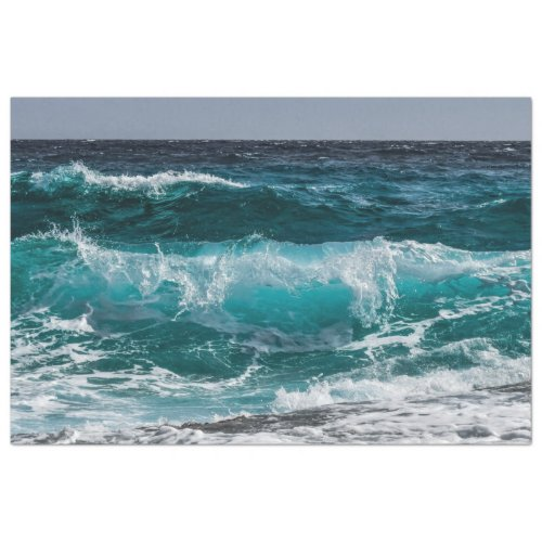 Ocean Wave 20x30  Decoupage Tissue Paper