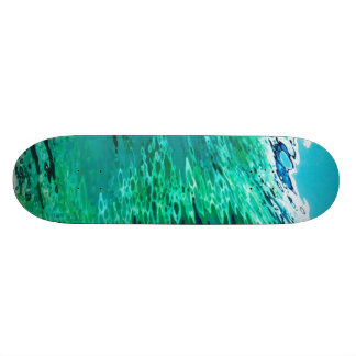 "Ocean Wave 8 1/2"" Skateboard by Margaret Juul."