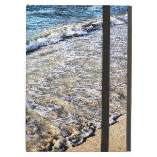 ocean wave and sandy beach iPad air covers