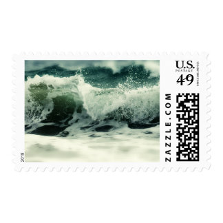 Ocean wave and spray postage