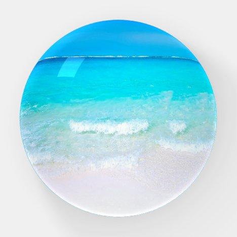 Ocean Wave Beach Modern Scene Paperweight