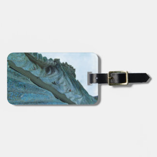 Ocean Wave Building Art Luggage Tags