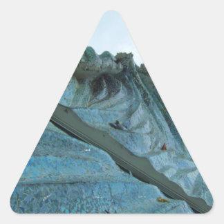 Ocean Wave Building Art Triangle Sticker