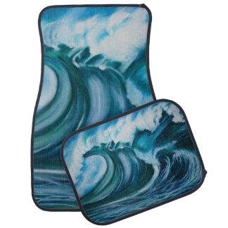 Ocean Wave Car Floor Mat