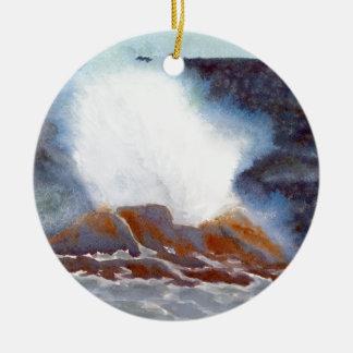 Ocean Wave Ceramic Ornament
