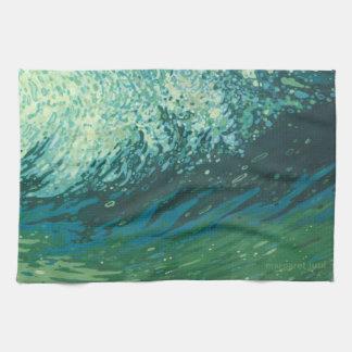Ocean Wave Coastal Kitchen Towel by Margaret Juul
