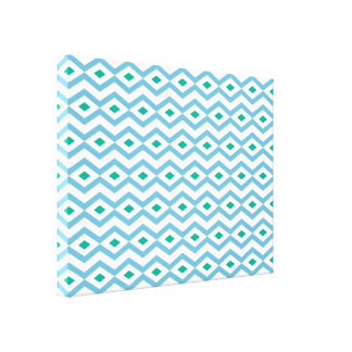 Ocean Wave Diamond Zigzag Canvas
