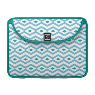 Ocean Wave Diamond Zigzag MacBook Sleeve