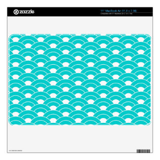 Ocean Wave Japanese traditional pattern Skins For The MacBook Air