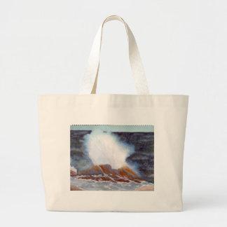 Ocean Wave Large Tote Bag
