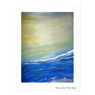 Ocean Wave Painted Postcard