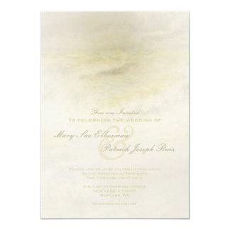 Ocean Wave: Pale Cream Wedding Invitation