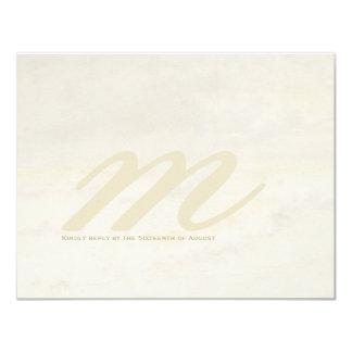 Ocean Wave: Pale Cream Wedding RSVP Cards