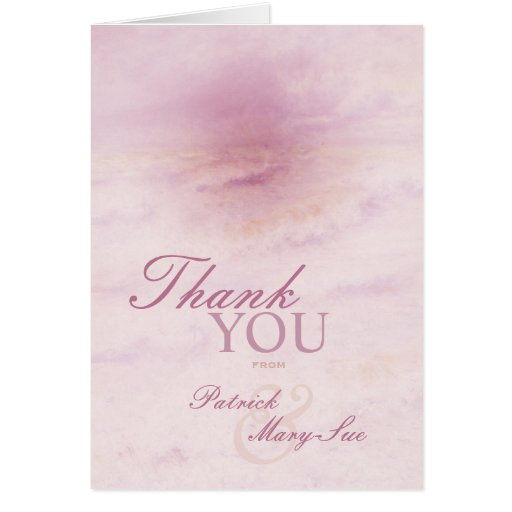 Ocean Wave: Pale Rose Thank You Cards