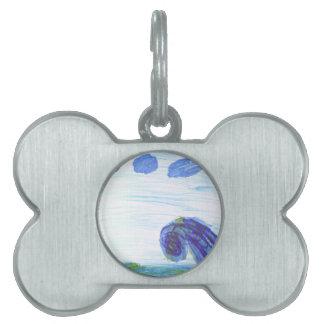 Ocean Wave Pet ID Tag