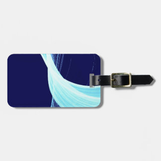 Ocean wave spin bag tag